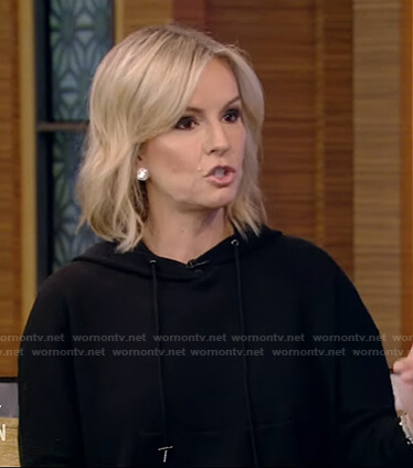 Dr. Jennifer Ashton's black hooded dress on Live with Kelly and Ryan