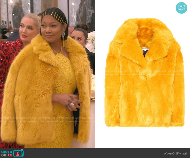 Faux Fur Coat by Diane von Furstenberg worn by Garcelle Beauvais  on The Real Housewives of Beverly Hills