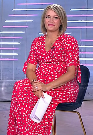 Dylan's red floral maternity dress on Today