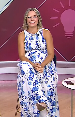 Dylan's white floral maternity maxi dress on Today