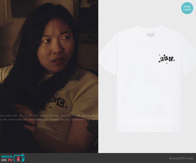 Electric Koolaid EKC T-shirt worn by Nora Lum (Awkwafina) on Awkwafina is Nora From Queens