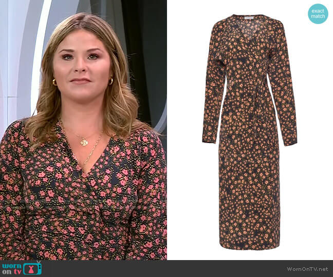 Guitain silk Dress by Equipment worn by Jenna Bush Hager  on Today