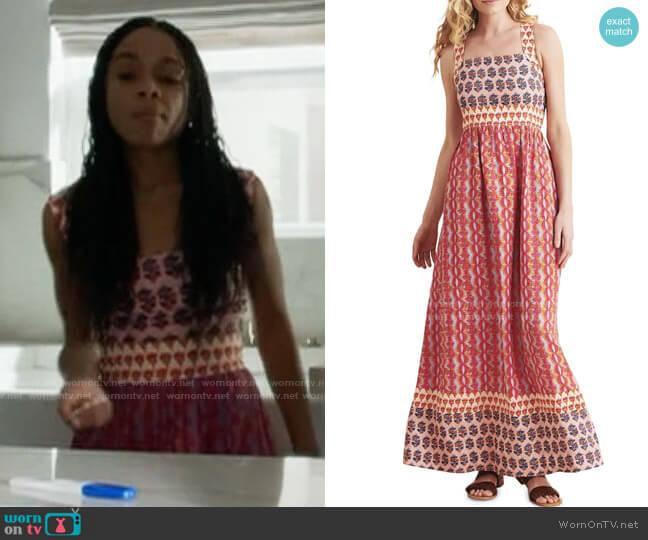 Faherty Gracie Dress in Bali Bloom worn by Jamie (Rachel Hilson) on American Horror Story