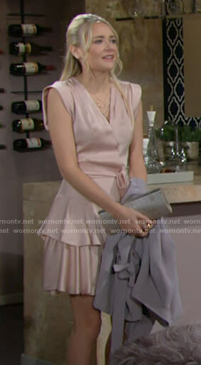 Faith's date night dress on The Young and the Restless