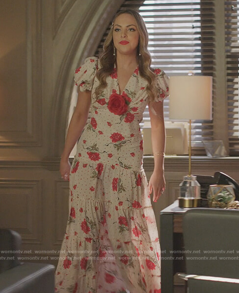 Alexis white lace blazer and pants on Dynasty