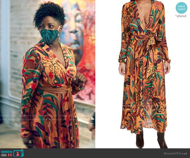Farm Rio Golden Jungle Maxi Dress worn by Nova Bordelon (Rutina Wesley) on Queen Sugar