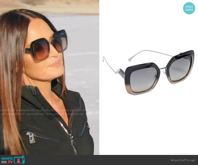Tropical Shine Sunglasses by Fendi worn by Lisa Barlow  on The Real Housewives of Salt Lake City