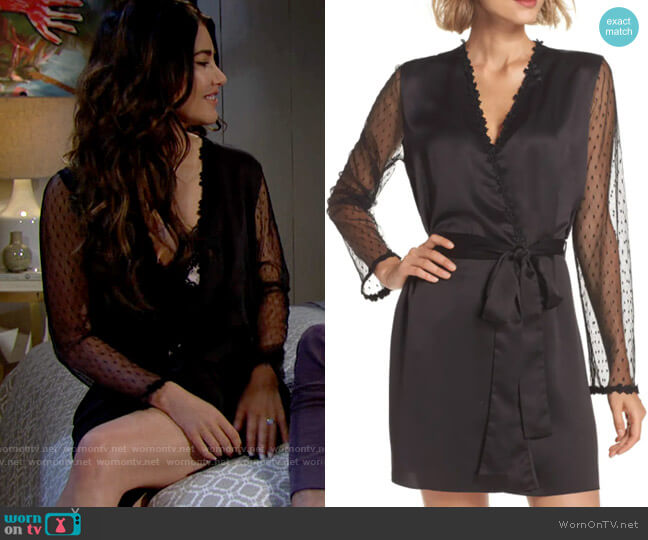 Flora Nikrooz Showstopper Robe worn by Steffy Forrester (Jacqueline MacInnes Wood) on The Bold & the Beautiful