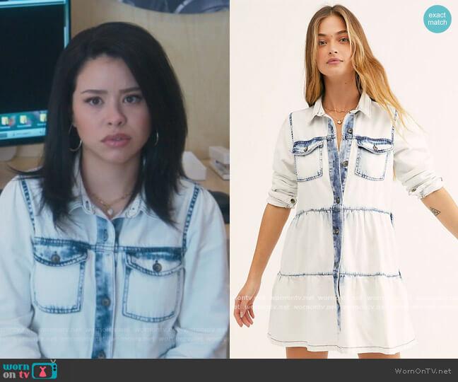 Nicole Denim Shirtdress by Free People worn by Mariana Foster (Cierra Ramirez) on Good Trouble