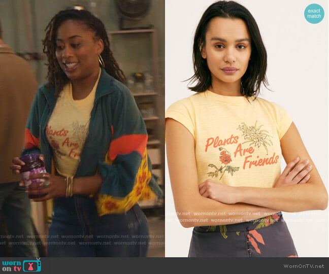 Plants Are Friends Muscle by Free People worn by Malika Williams (Zuri Adele) on Good Trouble