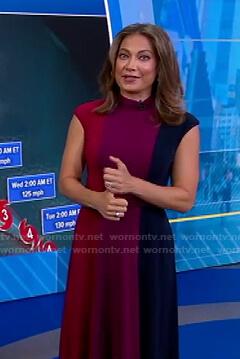 Ginger's colorblock cap sleeve dress on Good Morning America