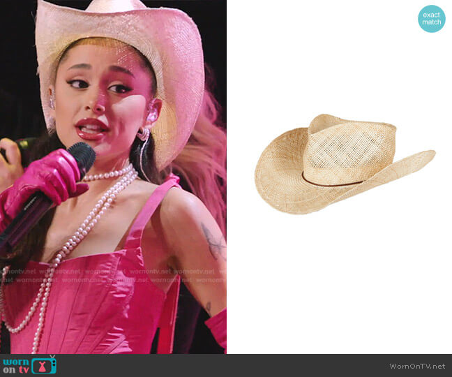 Kenny Hat by Gladys Tamez Millinery worn by Ariana Grande  on The Voice