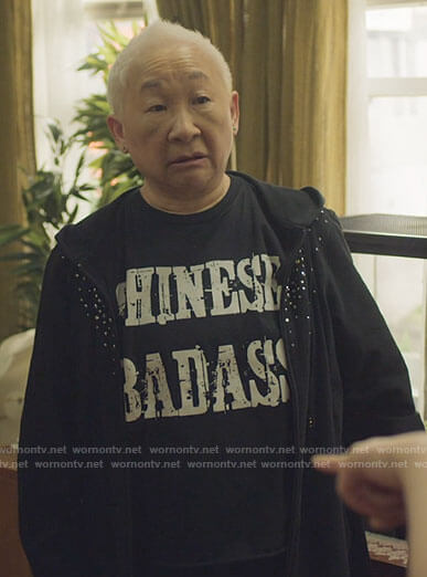 Grandma's Chinese Badass t-shirt on Awkwafina is Nora From Queens