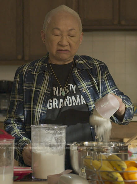 Grandma's Nasty Grandma t-shirt on Awkwafina is Nora From Queens
