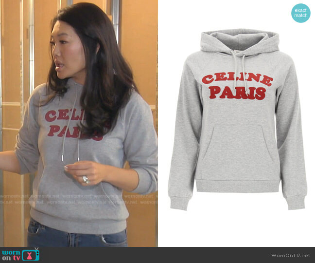 Celine Paris Sweater in Cotton and Cashmere by Celine worn by Crystal Kung Minkoff  on The Real Housewives of Beverly Hills