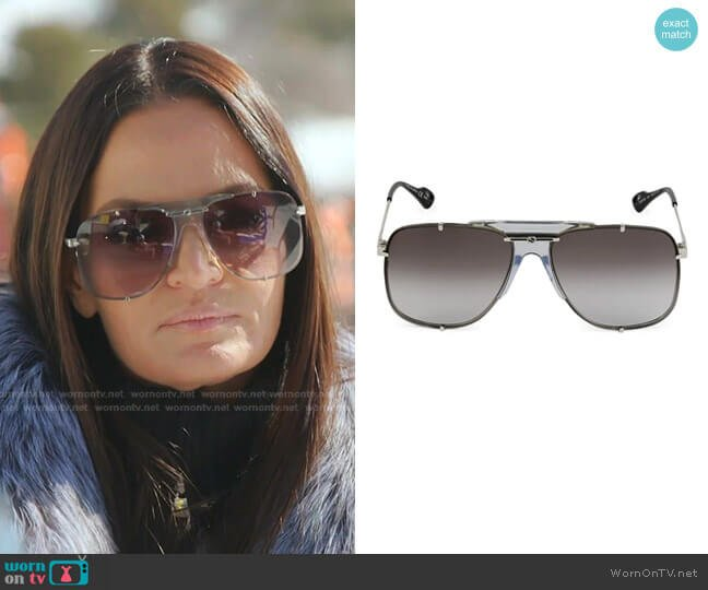 Aviator Sunglasses by Gucci worn by Lisa Barlow  on The Real Housewives of Salt Lake City