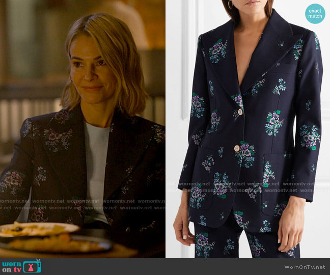 Gucci Cotton and wool-blend jacquard blazer worn by Alice Pieszecki (Leisha Hailey) on The L Word Generation Q