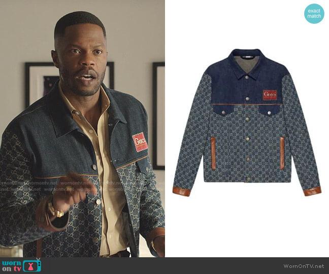 Eco Organic Denim Jacket Gucci worn by Jeff Colby (Sam Adegoke) on Dynasty