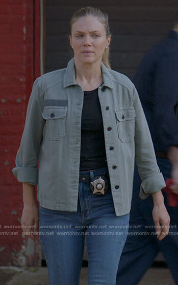 Hailey's army jacket on Chicago PD