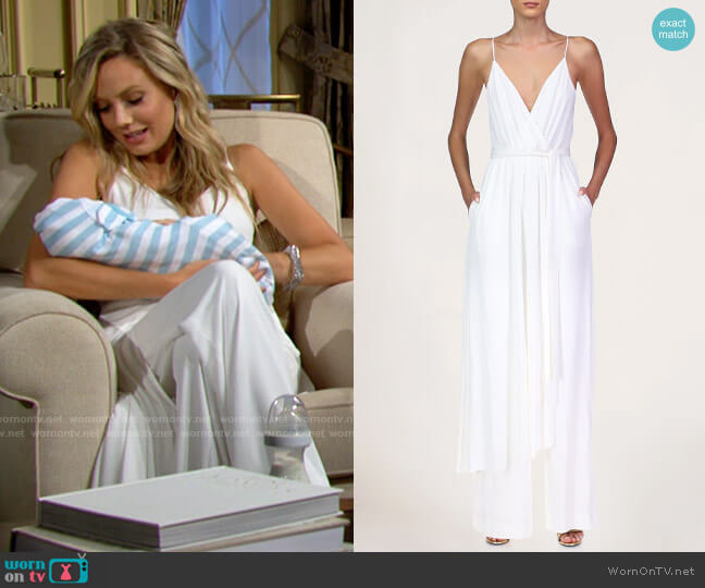 Halston Abigail Jumpsuit worn by Abby Newman (Melissa Ordway) on The Young & the Restless