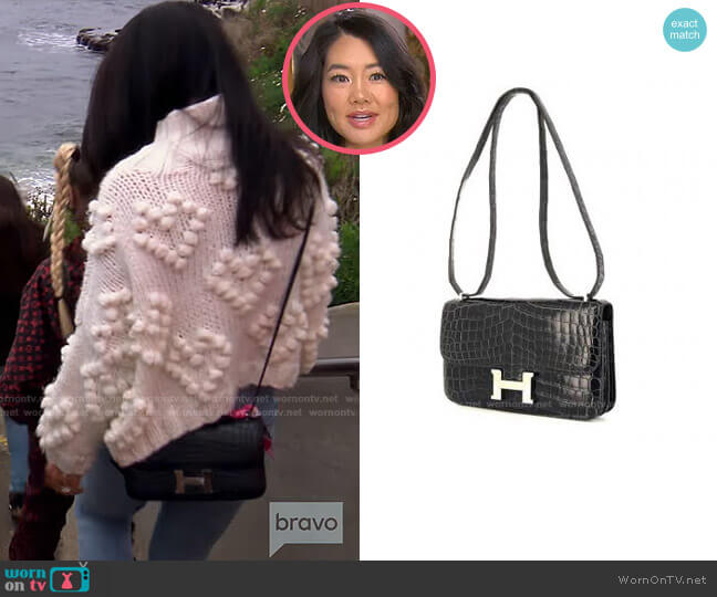 Constance Elan Handbag by Hermes worn by Crystal Kung Minkoff  on The Real Housewives of Beverly Hills