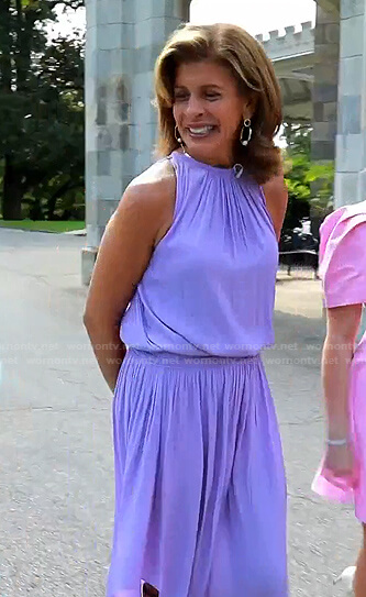Hoda's lilac halter dress on Today