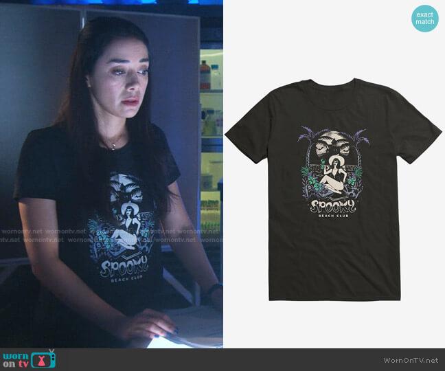 Spooky Beach T-Shirt by Hot Topic worn by Ella Lopez (Aimee Garcia) on Lucifer