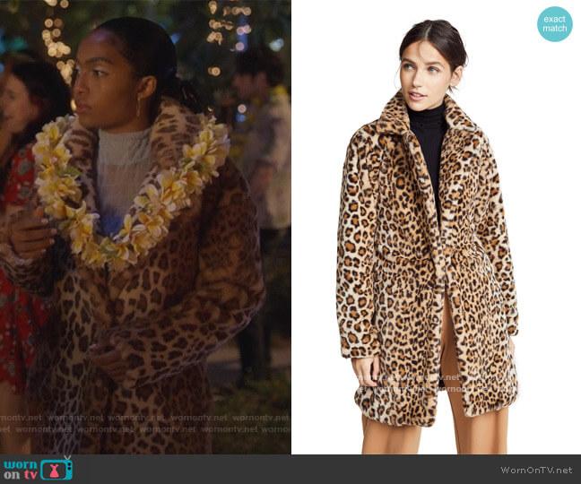 Stefani Coat by I.Am.Gia worn by Zoey Johnson (Yara Shahidi) on Grown-ish