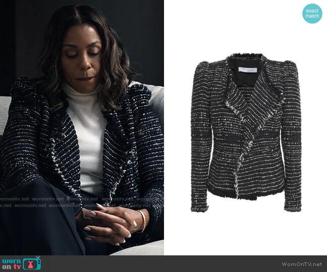 IRO Diana Tweed Jacket worn by Mia Jordan (Karen Pittman) on The Morning Show