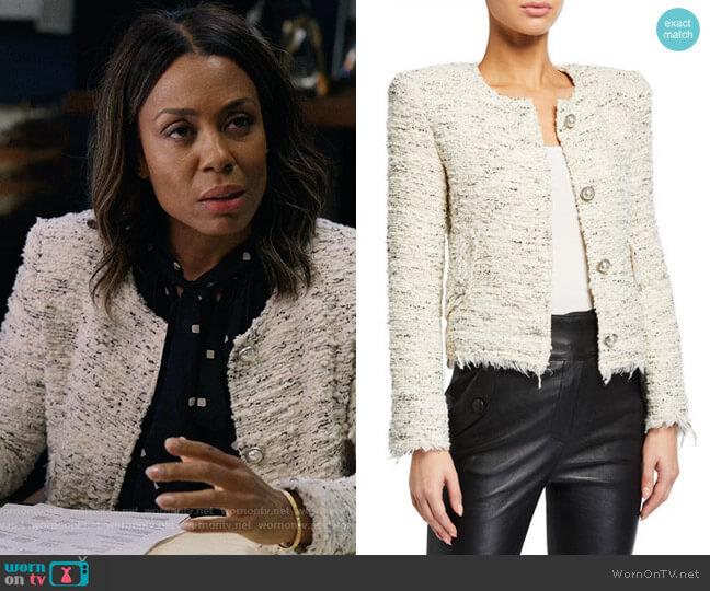 IRO Mercie Jacket worn by Mia Jordan (Karen Pittman) on The Morning Show