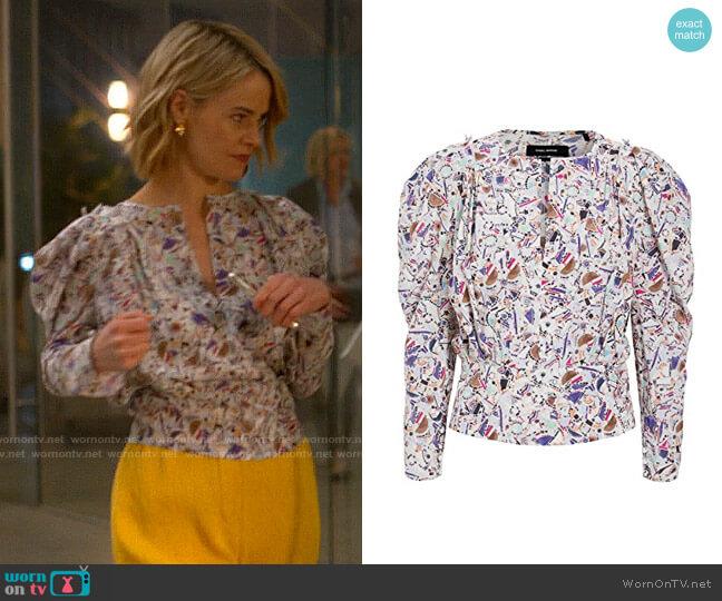 Isabel Marant Zarga Blouse worn by Alice Pieszecki (Leisha Hailey) on The L Word Generation Q