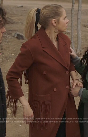 Isobel's brown fringed coat on Roswell New Mexico
