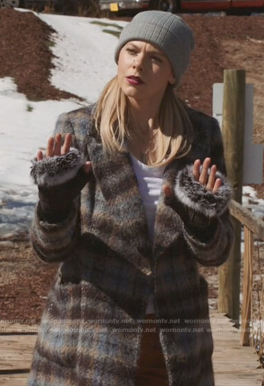 Isobel's plaid coat on Roswell New Mexico