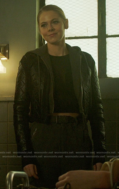 Isobel's quilted leather jacket on Roswell New Mexico