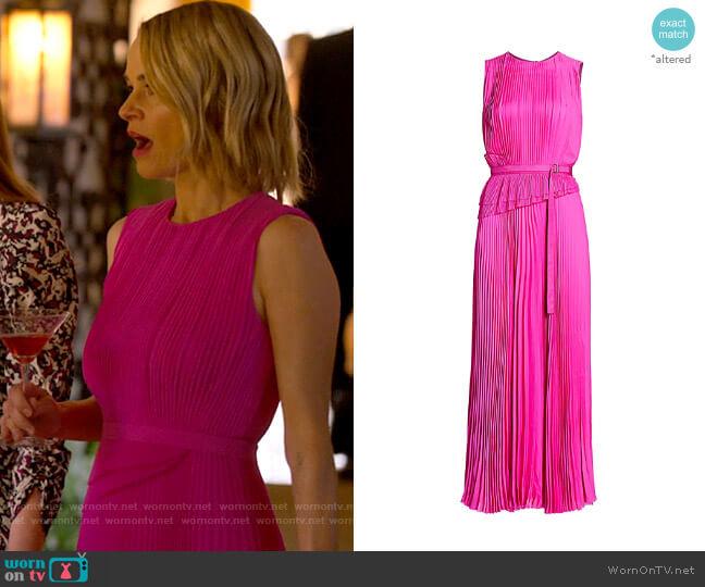 Jason Wu Sleeveless Silk Pleated Day Dress worn by Alice Pieszecki (Leisha Hailey) on The L Word Generation Q