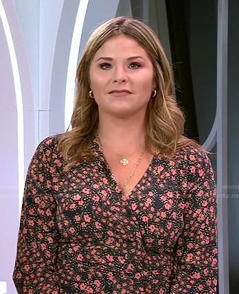 Jenna's black floral wrap dress on Today