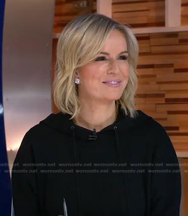 Jennifer's black hooded dress on Good Morning America