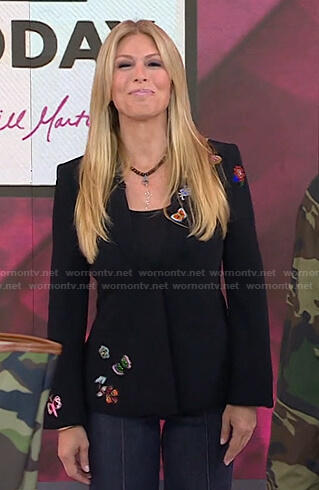 Jill's black embellished blazer on Today