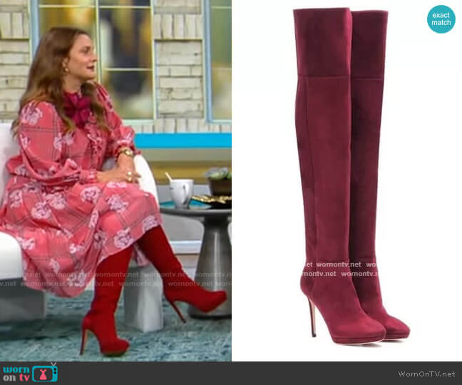 Jimmy Choo Haley 100 over the knee Suede Boots