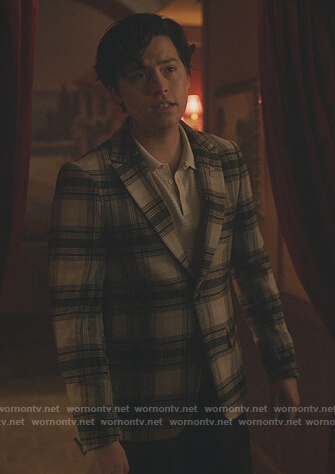 Keven's multicolored check shirt on Riverdale