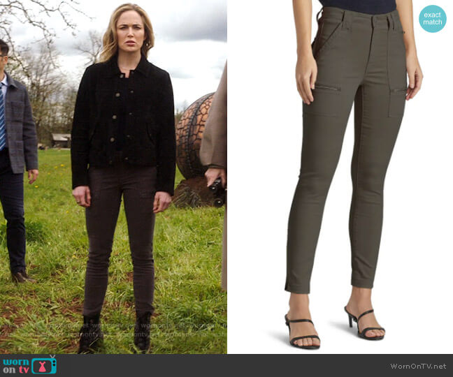 Joie Park Pants in Fatigue worn by Sara Lance (Caity Lotz) on Legends of Tomorrow