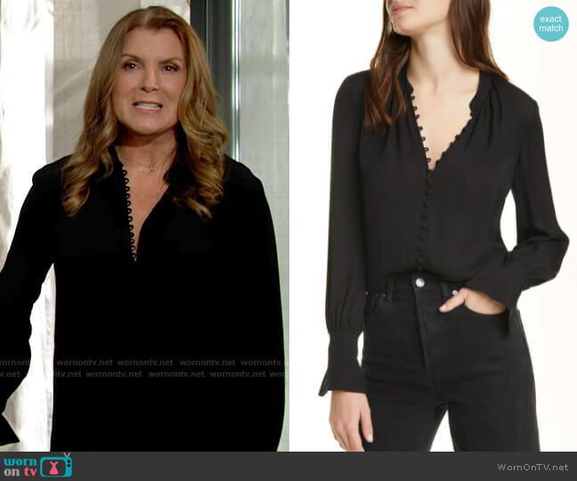 Club Monaco Helek Shirt worn by Sheila Carter (Kimberlin Brown) on The Bold & the Beautiful