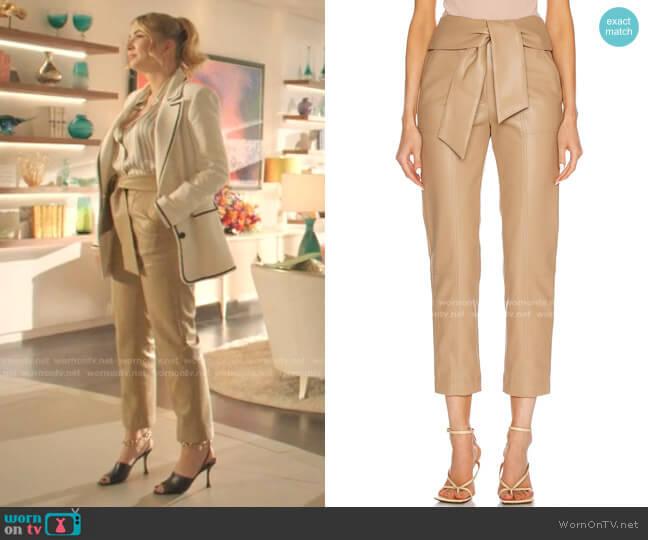 Tessa Vegan Leather Pant by Jonathan Simkhai worn by Amanda Carrington (Eliza Bennett) on Dynasty