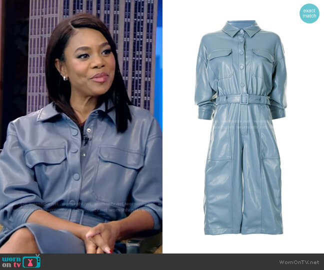 Belted Jumpsuit by Jonathan Simkhai worn by Regina Hall on Live with Kelly and Ryan