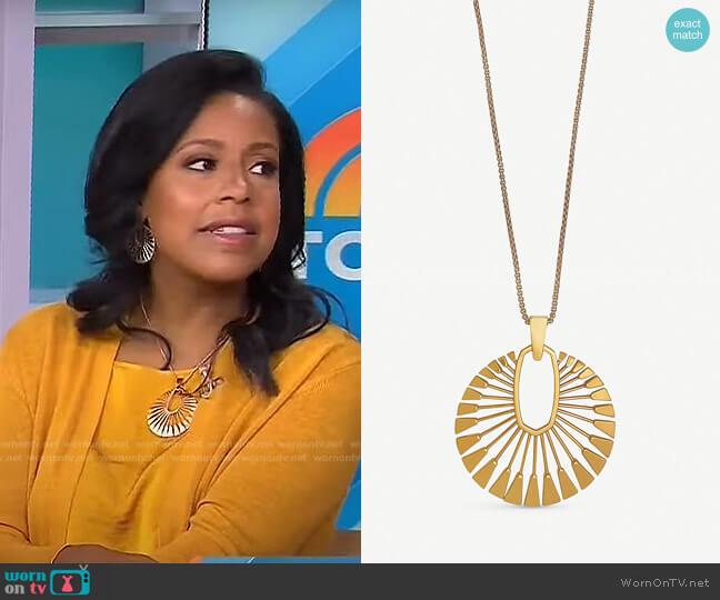 Deanne Sunburst Necklace by Kendra Scott worn by Sheinelle Jones  on Today
