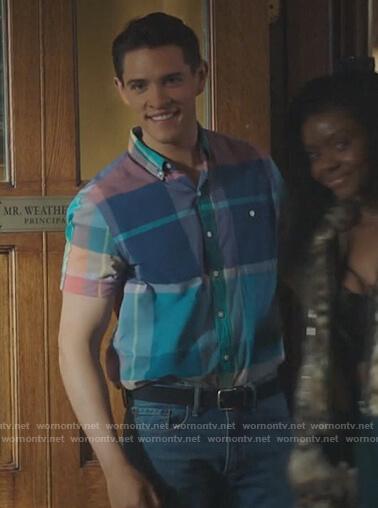 Alexandra's striped bra on Riverdale