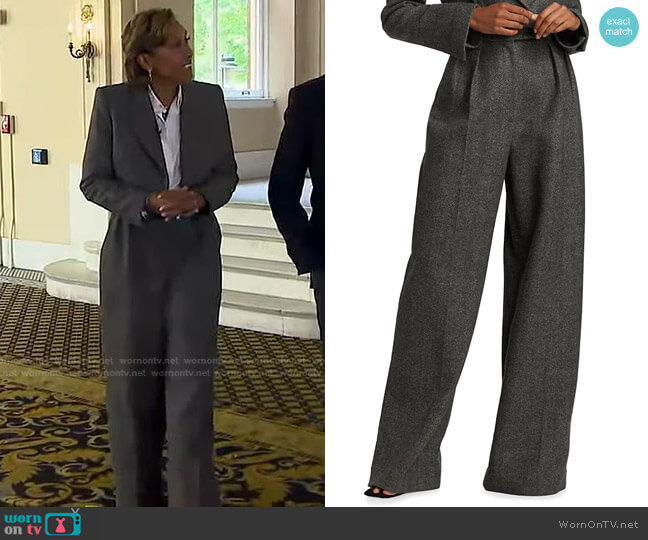 Teyana Wool Trousers by Khaite worn by Robin Roberts  on Good Morning America