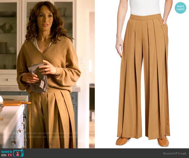 Kirin Pleated Suiting Wide-Leg Pants worn by Bette Porter (Jennifer Beals) on The L Word Generation Q