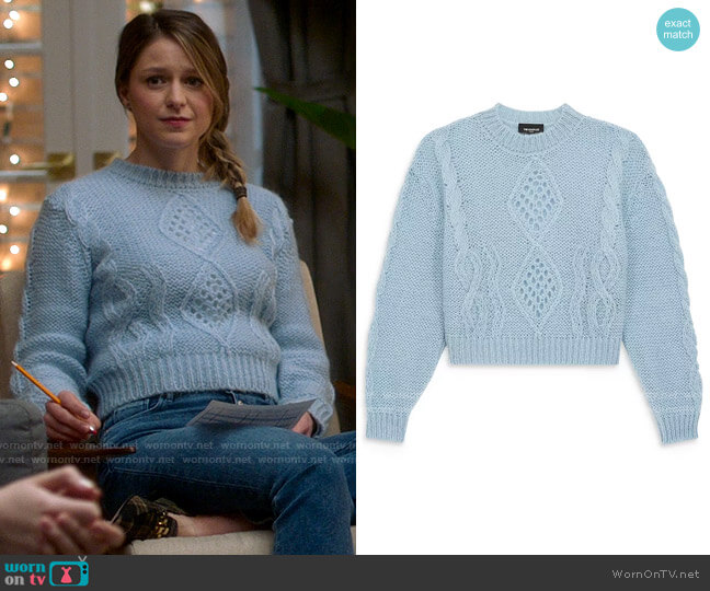 The Kooples Classic Mohair Sweater worn by Kara Danvers (Melissa Benoist) on Supergirl