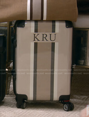 Kyle's striped luggage and tote bag on The Real Housewives of Beverly Hills